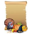Retro background Thanksgiving turkey vector image