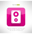 Audio system icon in modern flat design Clean and vector image