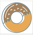 Donut icons collection vector image