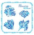 floral elements and frames set vector image