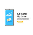 4g sim card world prepaid internet gsm phone vector image