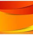 Abstract red orange yellow background overlap vector image