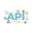 api application program interface vector image vector image
