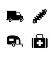 auto parts simple related icons vector image vector image