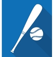 Ball and bat of baseball sport design vector image vector image