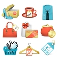 bargain icons vector image vector image