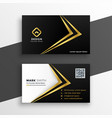 black and gold premium luxury business card design vector image vector image