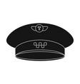 black cap with the logo of a taxi uniforms taxi vector image vector image