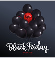 black friday sale square poster with dark shiny vector image