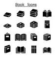 book education icon set vector image