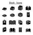 book education icon set vector image vector image