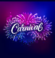 carnival hand written lettering text vector image vector image