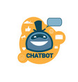 chatbot icon concept support robot technology vector image