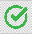 check mark icon in flat style ok accept on vector image vector image