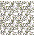cherry flowers seamless pattern for fabric vector image vector image