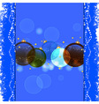 Christmas bauble blue background vector image vector image