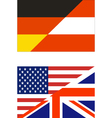 Combined Flags US-UK Germany-Austria vector image