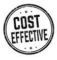 cost effective sign or stamp vector image