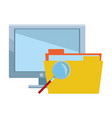 database and documents vector image vector image