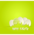 Easter bunny in grass greeting card vector image