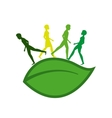 ecology people walk icon vector image vector image