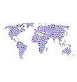 family world map vector image