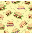 Fast food hamburger doodle set vector image vector image