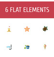 flat icons sorbet castle shovel and other vector image vector image
