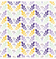foliage leaf stem pattern yellow and purple vector image vector image