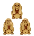Funny monkey in three poses for animations vector image vector image