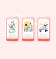 genome dna experimental lab character mobile app vector image vector image