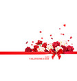 holiday valentines day vector image vector image