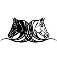 horses heads tattoo vector image