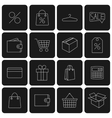 Icons purchase vector image vector image