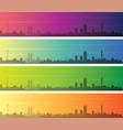 johannesburg multiple color gradient skyline vector image vector image