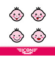 kid emotion icon vector image