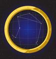 libra star horoscope zodiac in fish eye vector image vector image
