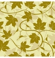 maple leaf seamless background vector image vector image