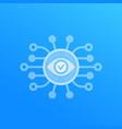 monitoring service icon vector image vector image