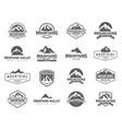 mountain logo concept vector image