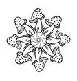 mushroom mandala vintage decorative elements vector image vector image