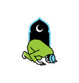 muslim people prayer at night ramadan night vector image