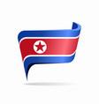 north korean flag map pointer layout vector image