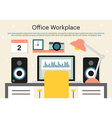 Office workplace background vector image vector image