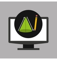 online education technology geometry cone vector image vector image