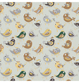 Parrot seamless colorful pattern vector image
