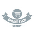 quality shop logo simple gray style vector image vector image
