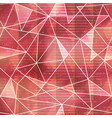red triangle seamless pattern with grunge effect vector image vector image