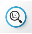 research icon symbol premium quality isolated vector image
