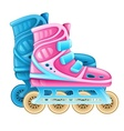 Roller skates for rolling vector image vector image
